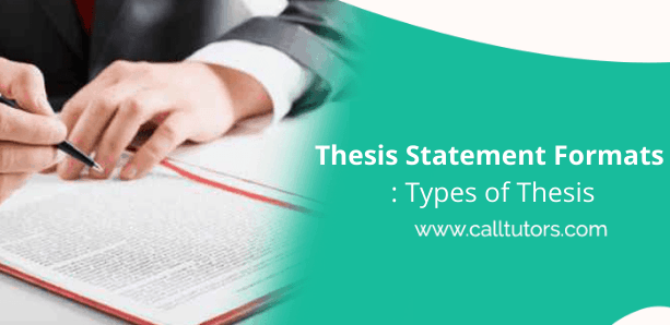 Thesis Statement Formats