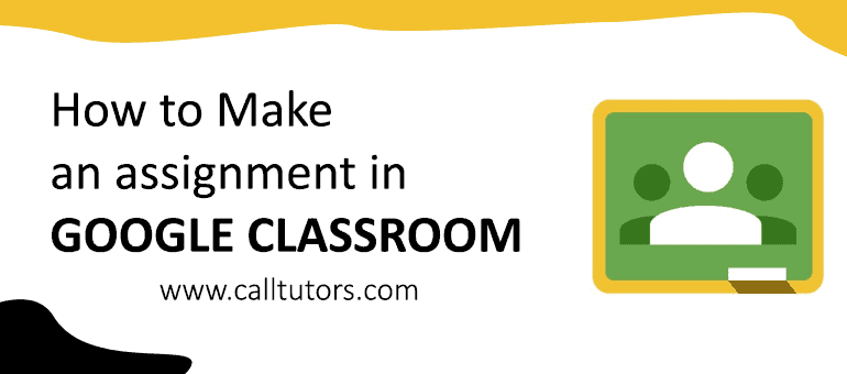 How to add an assignment in google classroom