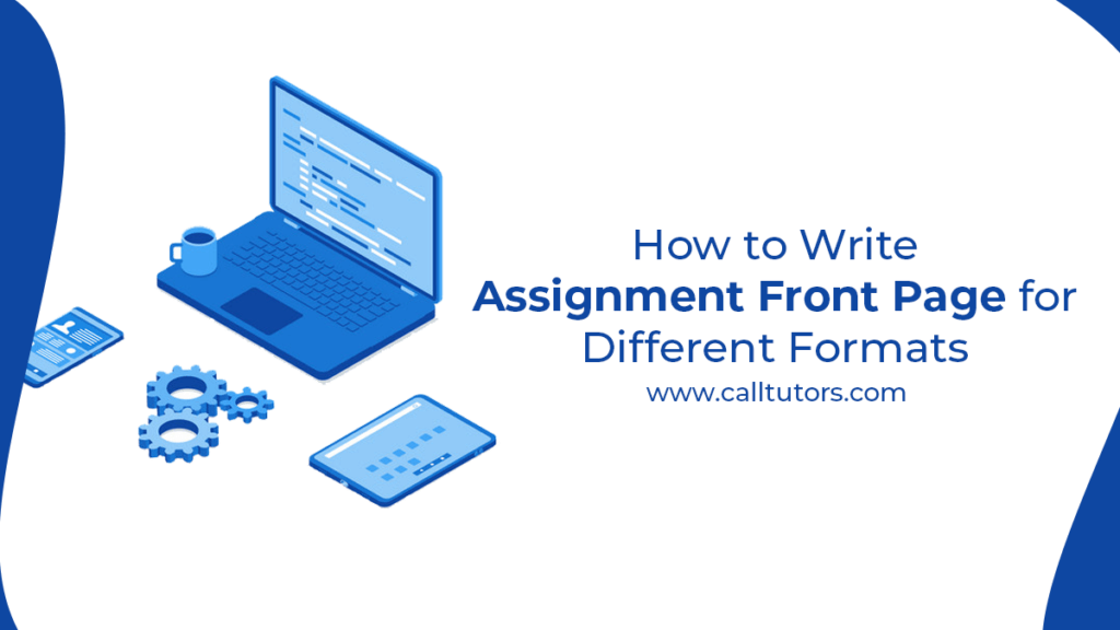 How to write assignment front page