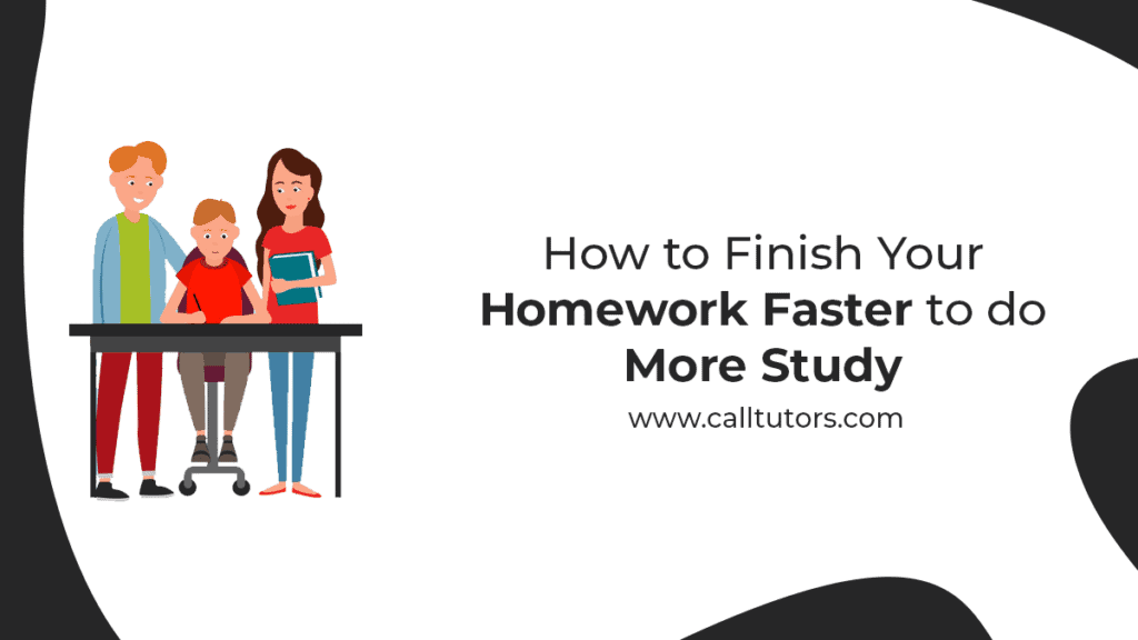how to do your homework faster
