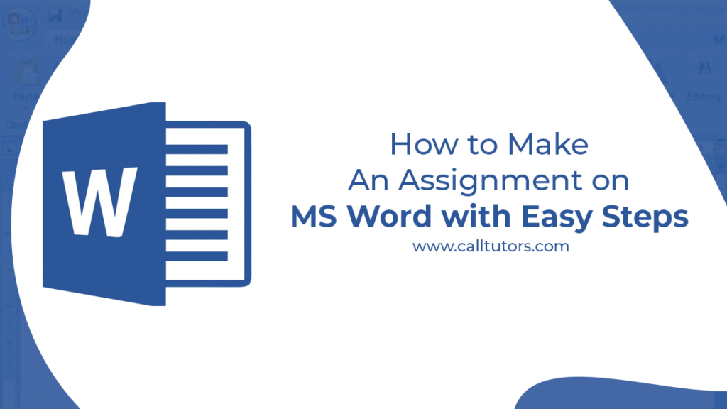how to make an assignment on ms word