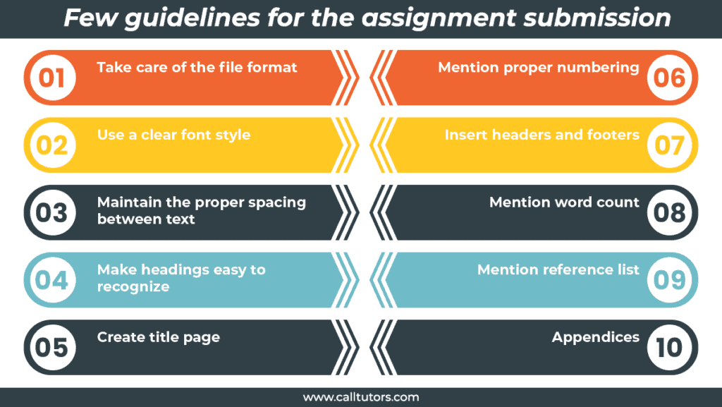 guidelines for the assignment submission
