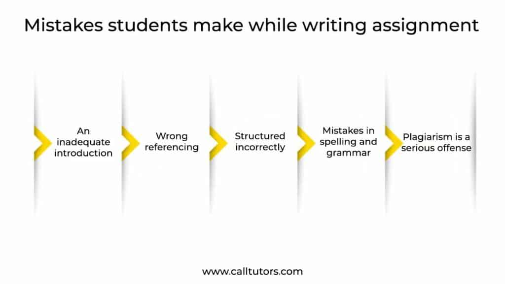 Mistakes students make while writing assignment