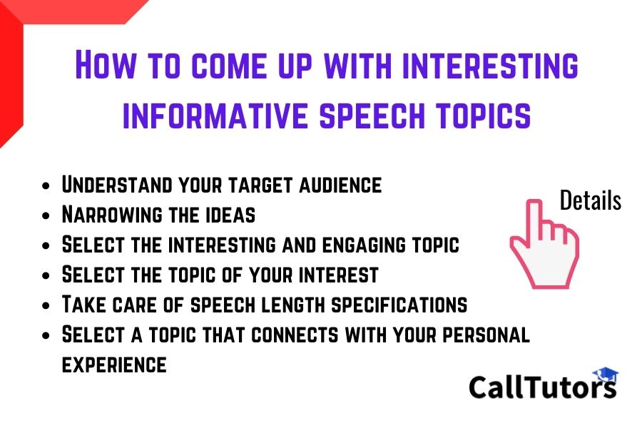 How to come up with interesting informative speech topics