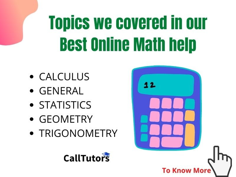 Topics covered our Online Math help